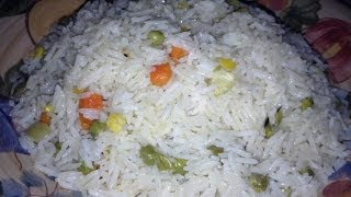 getlinkyoutube.com-White rice with mixed vegetables