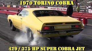 getlinkyoutube.com-Super Cobra Jet Torino vs Olds 442 400 w/Tri Power - 1/4 mile Video - Pure Stock - Road Test TV
