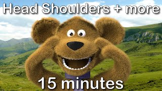 getlinkyoutube.com-Head Shoulders Knees and Toes   15 minutes compilation from tinyschool!