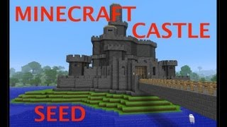 getlinkyoutube.com-MINECRAFT CASTLE + AWESOME SEED