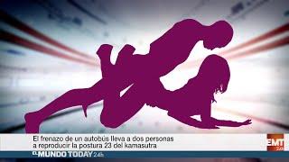 getlinkyoutube.com-Dos pasajeros de un autobús acaban haciendo una postura del Kamasutra | El Mundo Today 24H