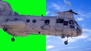 getlinkyoutube.com-Real Helicopter 1080p - Chinook -  Green Screen