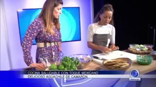 La Chef Fernanda Álvarez nos visita para decirnos como prepara el Aguachile