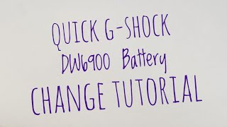 getlinkyoutube.com-Casio GShock DW-6900 battery change tutorial how too video CR2016