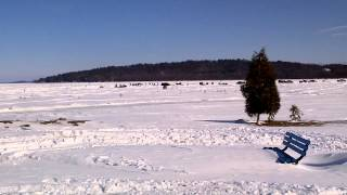 getlinkyoutube.com-Rice Lake Ontario snowmobiling and ice fishing huts