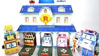 getlinkyoutube.com-로보카폴리 구조 본부 놀이 만들기 폴리 로이 엠버 스쿨비  로봇  장난감 мультфильмы про машинки Робокар Поли Игрушки Robocar Poli