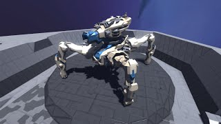 Space Engineers: giant quadruped release - The Ivory Queen