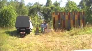 Отбор меда 2014. кассетный павильон Берендей. Промышленное пчеловодство
