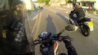 getlinkyoutube.com-yamaha yzf r125 and a keeway txm 125 random ride out