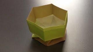 getlinkyoutube.com-折り紙 すごい六角箱 折り方 作り方