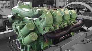 getlinkyoutube.com-Motorinstandsetzung Mercedes-Benz SK 1844 OM442 LA,Reparatur, Überholung