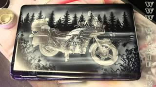 getlinkyoutube.com-No.124  Airbrush by Wow Laptop mit Honda Goldwing  HD 1080.mp4