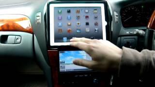 getlinkyoutube.com-セルシオ30後期に ipad2 を取り付け ipad2 install into the car by PHKOSUGI