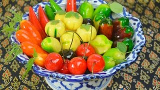 getlinkyoutube.com-How to Make Thai Kanom Luk Chup (fruit-shaped mung beans) ขนมลูกชุบ