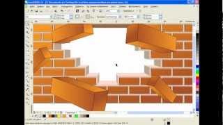 getlinkyoutube.com-Как нарисовать кирпичную стену в CorelDRAW