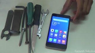getlinkyoutube.com-Screen Test of Xiaomi Redmi 2 Scratch and strike testing with Knife & Screwdriver