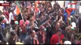 चम्पावत  विधानसभा से भाजपा उम्मीदवार  कैलाश गहतोड़ी ने रैली के साथ करवाया नामांकन