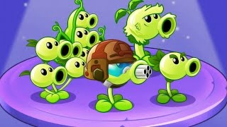 getlinkyoutube.com-Plants vs Zombies 2: Power Of The Peashoter Family! PvZ 2