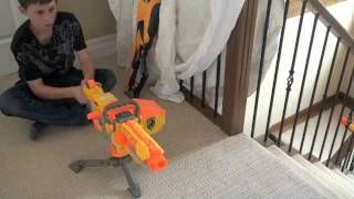 getlinkyoutube.com-Nerf war treasure battle