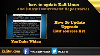 how to update Kali Linux and fix  kali sources.list Repositories