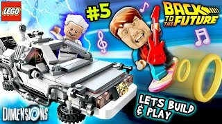 getlinkyoutube.com-Lets Build & Play LEGO Dimensions #5: Going Back to the Future (DeLorean Time Machine & Hoverboard)
