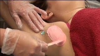 getlinkyoutube.com-Underarm wax using single dip method