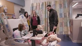 Drake surprises 11-year-old girl waiting for heart transplant in hospital width=