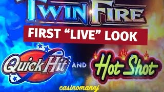 getlinkyoutube.com-Twin Fire (QuickHit&HotShot) - CHASING 1 MIL! - MAX BET! - NICE WINS-Slot Machine Bonus