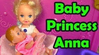 getlinkyoutube.com-FROZEN Parody Baby Princess Anna Toddler Princess Elsa Crying Powers Sisters Movie Part 4