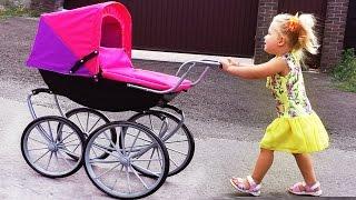 getlinkyoutube.com-✿ КЛАССНАЯ КОЛЯСКА КУКЛЫ Baby Born Кукла Беби Борн Dolls Toys New Новые Игрушки Fun Toys Girls