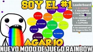 getlinkyoutube.com-AGAR.IO SOY EL NUMERO 1!!! NUEVO MODO DE JUEGO AGARIO RAINBOW JUEGO RANDOM SUPER ADICTIVO AGARIO