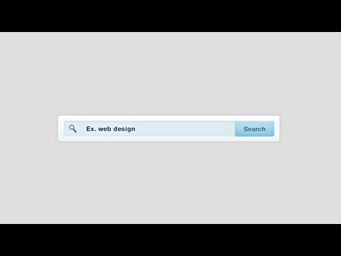 Photoshop: Search Bar (Web Design)