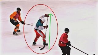 Using a Zdeno Chara Stick VS. BEER LEAGUERS