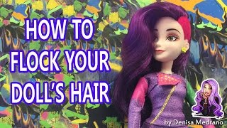 getlinkyoutube.com-How to flock your doll's hair just like Monster High Venus