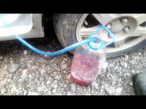 Как слить бензин с любой машины