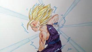 getlinkyoutube.com-Drawing Gohan SSJ2\Super Saiyan 2 - Kamehameha
