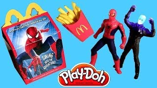 getlinkyoutube.com-Play Doh McDonald's Happy Meal Toys The Amazing Spider-Man 2 Rise of Electro Play Dough 2014