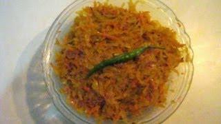 getlinkyoutube.com-Green Papaya & Carrot Fry Recipe