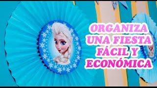 Ideas fáciles y económicas para fiesta de Frozen Disney |  Easy ideas for Frozen Disney party