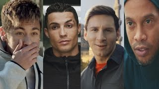 getlinkyoutube.com-Cristiano Ronaldo●Lionel Messi●Neymar Jr●Ronaldinho●Pogba ● Best Commercial Compilation