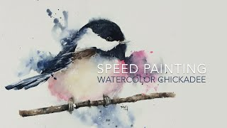 getlinkyoutube.com-Speed Painting: Loose Watercolor Chickadee