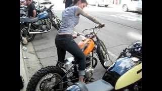 getlinkyoutube.com-Priscilla rockin my Honda Dirt Bike Bobber