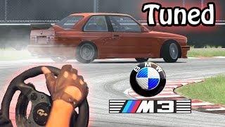 getlinkyoutube.com-Assetto Corsa - TUNED BMW m3 e30 DRiFT mod setup! (Steering Wheel gameplay, t500rs & th8rs). HD