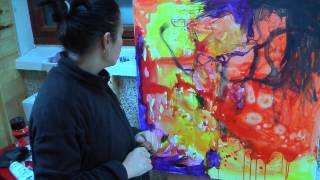 getlinkyoutube.com-abstract expressionist painter Anna Hryniewicz in her studio