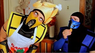 getlinkyoutube.com-Scorpion and SubZero Ruin Thanksgiving! (Cooking With Scorpion #2)
