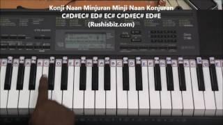 getlinkyoutube.com-Un Mele Oru Kannu (Piano Tutorials) - Rajinimurugan