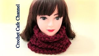 getlinkyoutube.com-كروشيه سكارف دائري مغلق على الرقبة - كروشيه كافيه  Crochet Cafe