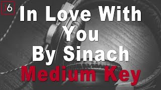 Sinach | In Love With You Instrumental Music and Lyrics Medium Key