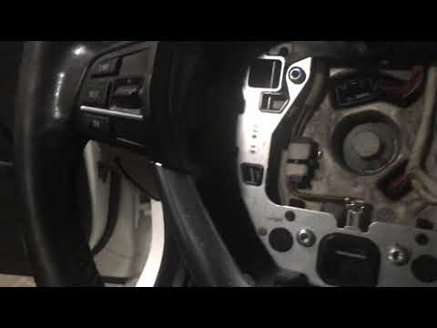 Как снять руль (подушку) на БМВ Ф10