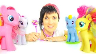 getlinkyoutube.com-Видео для детей. Играем в доктора. Игрушечные Пони, Маша и ветеринарная клиника